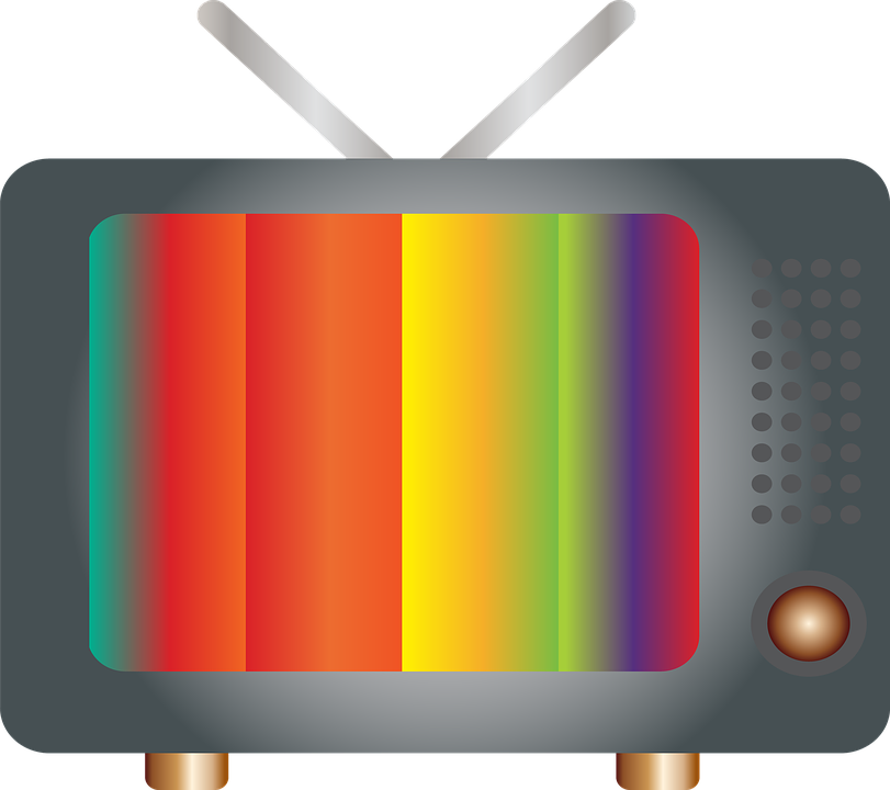 TV retro with striped colors image